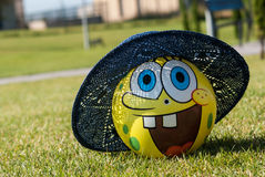 Bob. A ball with the face of sponge bob Royalty Free Stock Images