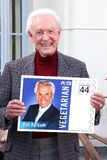 Bob Barker. At the PETA Goes Postal Postage Stamp Unveiling, Hollywood Post Office, Hollywood, CA 11-29-11 royalty free stock image