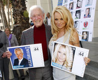 Bob Barker et Pamela Anderson Photographie stock