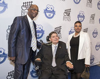 Bob Beamon and Tameka Beamon join Marc Buoniconti Royalty Free Stock Image