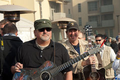 Bob Dipiero and Kix Brooks with the Troops Royalty Free Stock Photo