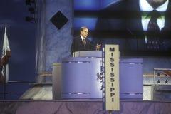 Bob Dole geeft zijn goedkeuringstoespraak Stock Afbeelding
