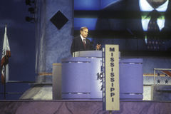 Bob Dole gives his acceptance speech Stock Image