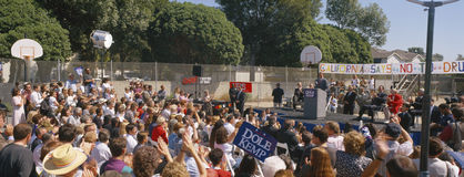 Bob Dole presidential campaign speech, Ventura, California Stock Photo