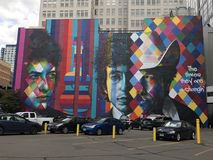 Bob Dylan Mural Stock Photo