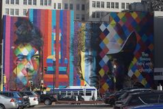 Bob Dylan. Mural of Bob Dylan in Minneapolis Minnesota Stock Image
