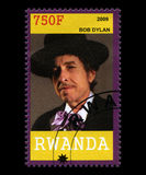 Bob Dylan Postage Stamp from Rwanda Stock Photography