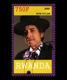 Bob Dylan znaczek pocztowy od Rwanda Fotografia Stock