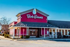 Bob Evans Restaurant Entrance Royaltyfri Fotografi