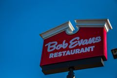 Bob Evans Restaurants Sign Royaltyfri Foto