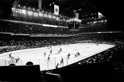 Vintage Boston Garden, Bruins game. Stock Images