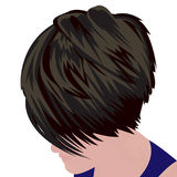 Bob haircut vector illustration. On a white background Royalty Free Stock Images