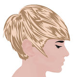 Bob haircut vector illustration. On a white background Stock Images