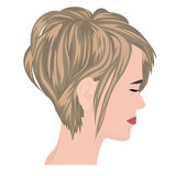 Bob haircut vector illustration. On a white background Stock Photo