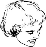 Bob Hairstyle de la mujer Fotos de archivo libres de regalías
