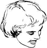 Bob Hairstyle della donna illustrazione vettoriale