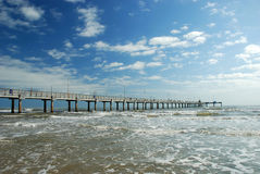 Bob Hall Pier on Padre Island Royalty Free Stock Photography
