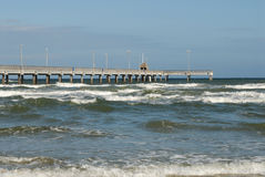 Bob Hall pier on Padre Island, Texas Stock Images