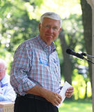Bob Hilkemann speaks at Tea Party Rally Royalty Free Stock Photos