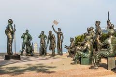 Bob Hope et le mémorial militaire, se rappelant ses visites d'USO Images libres de droits