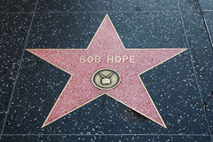 Bob Hope Hollywood Star Royaltyfri Foto
