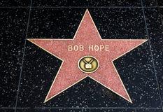 Bob Hope Star en el paseo de Hollywood de la fama Imágenes de archivo libres de regalías