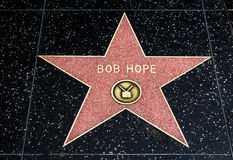 Bob Hope Star on the Hollywood Walk of Fame Royalty Free Stock Images