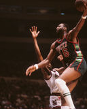Bob Lanier. Milwaukee Bucks superstar Bob Lanier. (Image taken from slide Stock Image