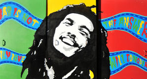 Bob Marley. Graffiti portrait in UK Stock Image