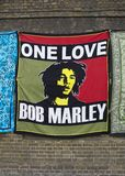 Bob Marley Blanket. For sale in Camden Town Royalty Free Stock Image