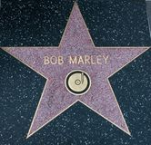 Bob Marley Hollywood Star royaltyfri foto