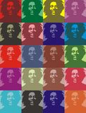 Bob marley portraits. Vector illustration a la Andy Warhol Royalty Free Stock Photography