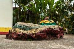 Bob Marley's rock pillow Stock Photos