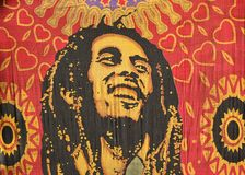 Bob Marley. A simple carved cloth representing love for bob marley Stock Image