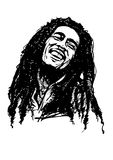 Bob marley. Vector illustration on white Royalty Free Stock Photo