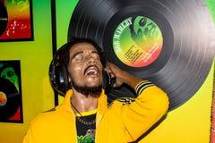 Bob Marley-wasportret, Mevrouwtussaud's Amsterdam royalty-vrije stock foto