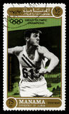 Bob Mathias Olympic Champion Postage Stamp Stock Image