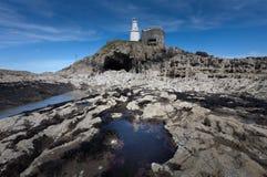 Bob's Cave at Mumbles Lighthouse Stock Photos