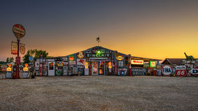 Bob's Gasoline Alley  on historic route 66 in Missouri. CUBA, MISSOURI, USA - MAY 11, 2016 : Bob's Gasoline Alley on historic Route 66 in Cuba. It is is an Royalty Free Stock Images