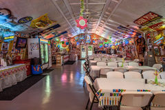 Bob's Gasoline Alley  on historic route 66 in Missouri. CUBA, MISSOURI, USA - MAY 11, 2016 : Interior of Bob's Gasoline Alley on historic Route 66. It is is a Stock Images