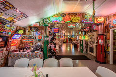 Bob's Gasoline Alley  on historic route 66 in Missouri. CUBA, MISSOURI, USA - MAY 11, 2016 : Interior of Bob's Gasoline Alley on historic Route 66. It is is a Stock Photos