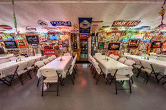 Bob's Gasoline Alley  on historic route 66 in Missouri. CUBA, MISSOURI, USA - MAY 11, 2016 : Interior of Bob's Gasoline Alley on historic Route 66. It is is a Royalty Free Stock Images