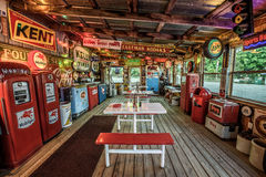 Bob's Gasoline Alley  on historic route 66 in Missouri. CUBA, MISSOURI, USA - MAY 11, 2016 : Interior of Bob's Gasoline Alley on historic Route 66 in Cuba. It is Stock Images