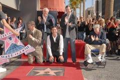 Bob Saget, Garry Marshall, Jack Klugman, John Stamos, Leron Gubler Photos libres de droits