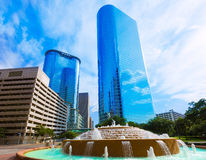 Bob and Vivian Smith fountain in Houston Texas Royalty Free Stock Image