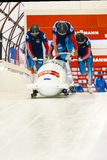 Bob-Weltcup Calgary Kanada 2014 Lizenzfreies Stockbild