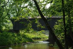 Bob White Covered Bridge Fotografering för Bildbyråer