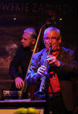 Boba Jazz Band. CRACOW, POLAND - OCTOBER 30, 2015: Boba Jazz Band playing live music at The Cracow Jazz All Souls Day Festival in Jaszczury Club. Cracow. Poland Stock Image