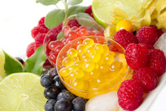 Bobas for bubble tea Royalty Free Stock Images