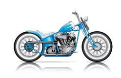 Голубой изготовленный на заказ bobber Стоковые Фото